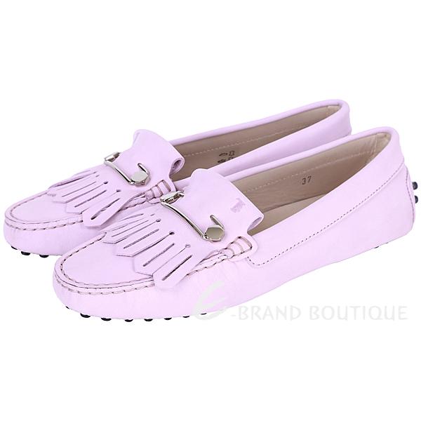 TOD'S Gommino Driving 流蘇拼接豆豆休閒鞋(粉紫色) 1520680-47
