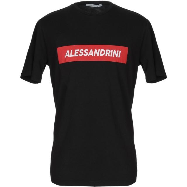 《セール開催中》DANIELE ALESSANDRINI メンズ T シャツ ブラック L コットン 100%
