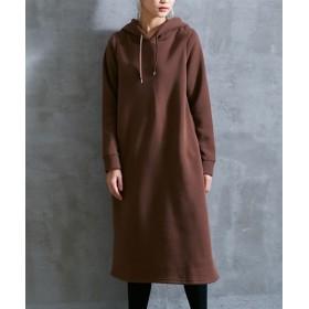 裏起毛素材ロング丈パーカー (ワンピース)Dress, 衣裙, 連衣裙