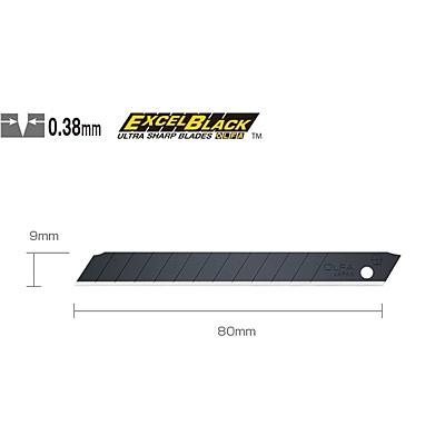 OLFA小型超銳黑刃美工刀片ABB-10B(10片裝)