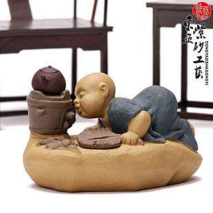 精品紫砂茶寵茶玩 小和尚 龔春做壺