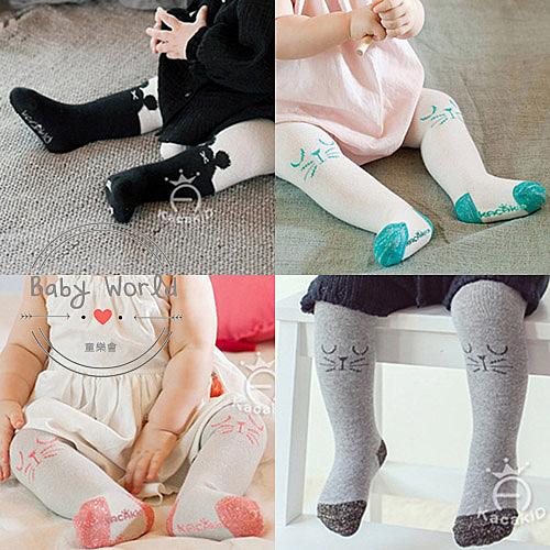 襪子 褲襪 韓版 小貓 米奇 嬰幼兒 打底褲 百搭 BW