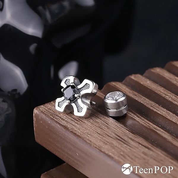 925純銀耳環 ATeenPOP 單鑽耳環 十字戰役 十字架 男耳環 單邊單個價格 多款任選