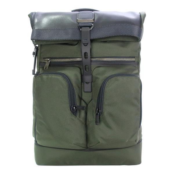 TUMI ALPHA BRAVO 尼龍拼接雙口袋後背包 適用15吋筆電  軍綠