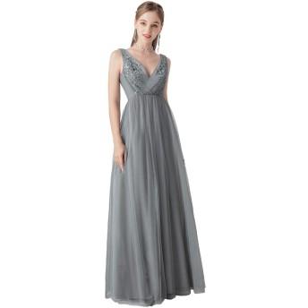 Ever-Pretty ロングドレス 演奏会 イブニングドレス パーティードレス ブライズメイド ドレス キャバ シフォンロングドレス ウェディングドレス 結婚式 ドレス