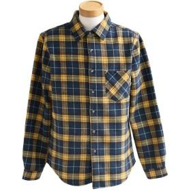 (トーン) TOneontoNE 長袖シャツ ネルシャツ フリース カジュアルシャツ チェックシャツ あったか 厚手シャツ メンズXL(レディース3L) グリーン×イエローチェック