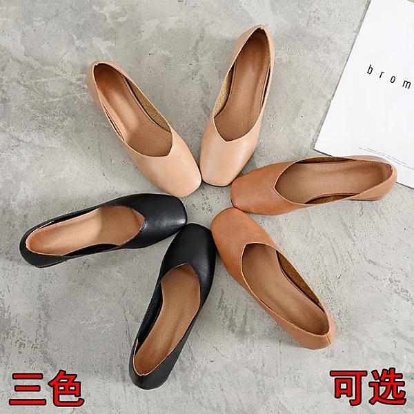 復古奶奶鞋女粗跟中跟新款