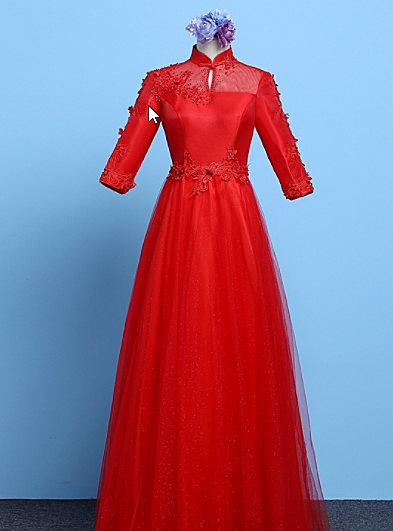 (45 Design)  訂做7天到貨 韓風婚紗禮服 晚宴 顯瘦性感晚宴結婚禮服婚紗 高級訂製服13