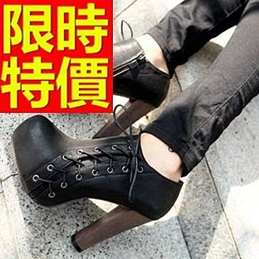 真皮短靴-俏麗時尚設計高跟女靴子2色62d43【巴黎精品】