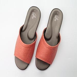 76029仿皮悠能室內皮拖鞋-橘M
