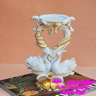 超美歐式風格  天鵝燭臺