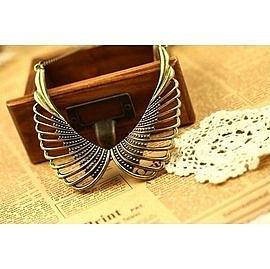 歐美復古項飾配飾鏤空翅膀假領子項鍊短鏈