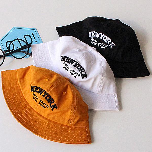 Qmishop 春兒童遮陽帽子純棉字母盆帽太陽帽 【QB013】