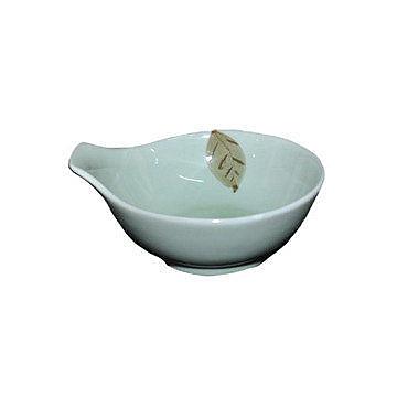 日式韓式/手繪樹葉/4.8寸柄碗