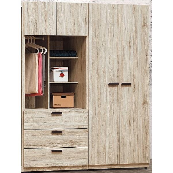 衣櫃 衣櫥 PK-149-67 莫托斯橡木5尺衣櫥【大眾家居舘】
