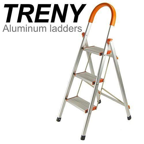 [家事達] HD -94632  豪華加寬鋁製 三階扶手梯 特價 梯子 扶手梯 A字梯 一字梯 工作梯