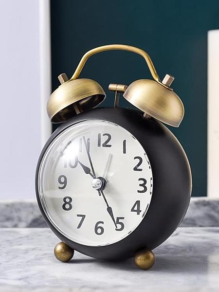 鬧鐘 復古小鬧鐘學生用靜音床頭兒童鐘表小型擺件鬧鈴聲音超大夜光時鐘 【八折搶購】