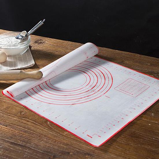 ◄ 生活家精品 ►【P255】帶刻度矽膠揉麵墊 擀麵墊 和麵 矽膠墊 烘焙 工具 麵包 案板 麵食
