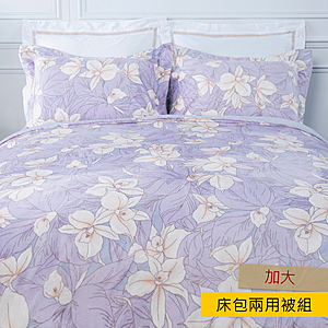 HOLA 紫虹舒絨床包兩用被組 加大