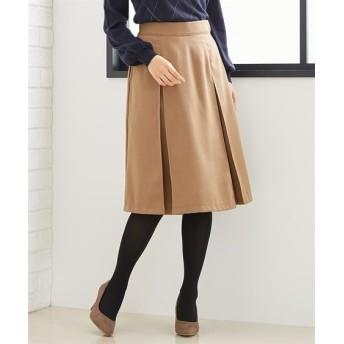 ツィード調ボックスプリーツスカート (ひざ丈スカート)Skirts, 裙子