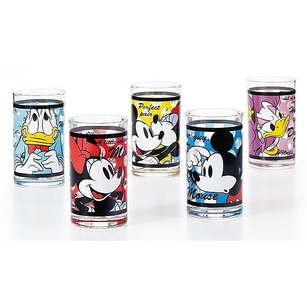迪士尼 米老鼠&唐老鴨玻璃杯禮盒/747-119
