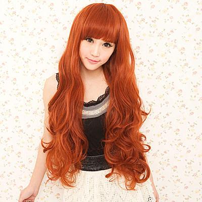 長捲髮~安室小臉豐厚感超長捲髮☆高仿真超自然整頂假髮【MA023】雙兒網