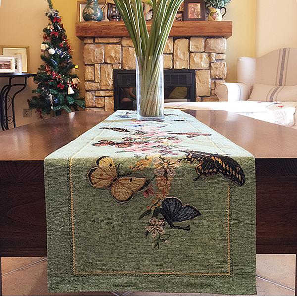 時尚可愛空間餐桌布 茶几布 隔熱墊 鍋墊 杯墊 餐桌巾桌旗759 (34*115cm)