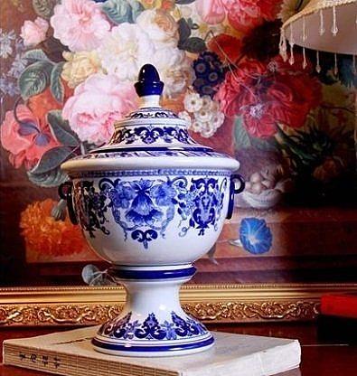 景德鎮青花瓷獎杯花瓶