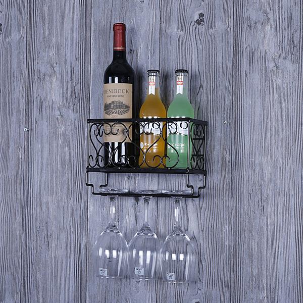 家用紅酒架紅酒杯架壁掛式高腳杯架倒掛創意酒架懸掛葡萄酒架擺件
