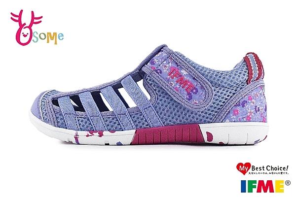 IFME 日本機能鞋 水涼鞋 中童 休閒運動鞋 P7630#紫色◆OSOME奧森鞋業
