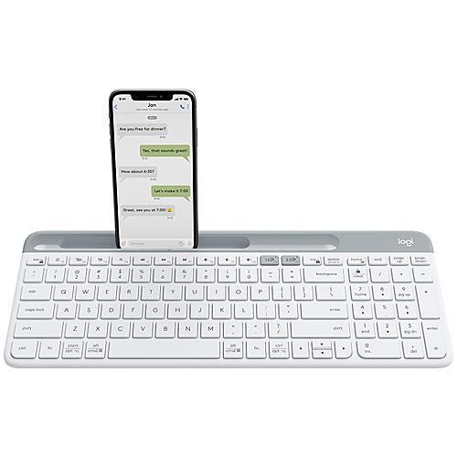 Logitech 羅技 K580 Slim 多工無線鍵盤 珍珠白