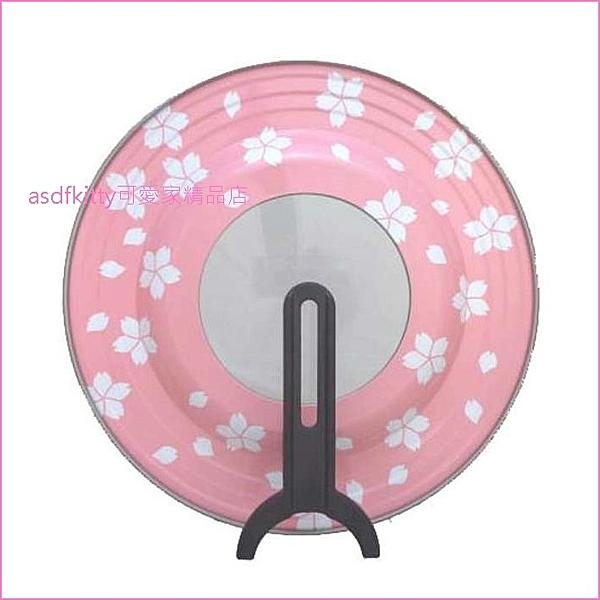 asdfkitty*賠錢出清特價- 日本製 粉紅色可站立鍋蓋-適用26~30公分的鍋子