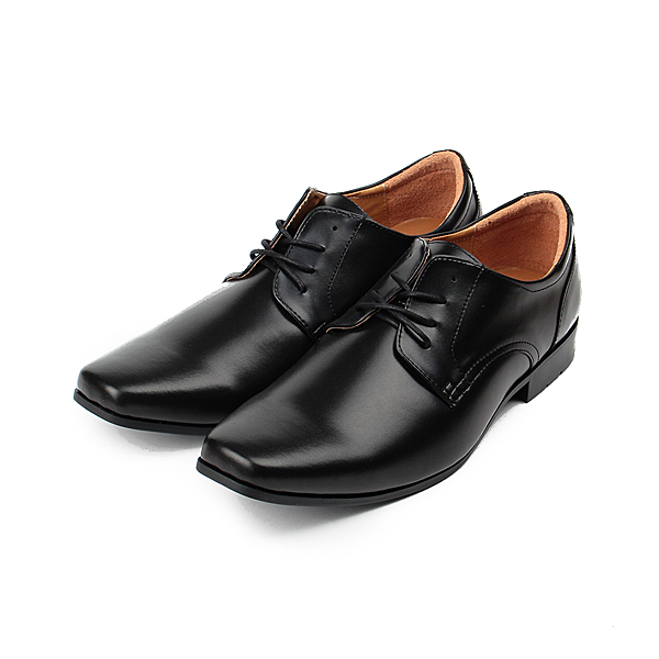 SARTORI 素面綁帶學生鞋 黑 男