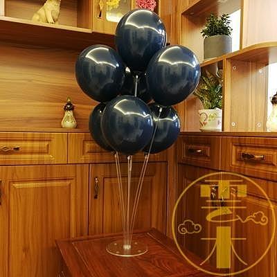 墨藍色氣球寶石藍生日婚禮氣球裝飾派對布置【雲木雜貨】