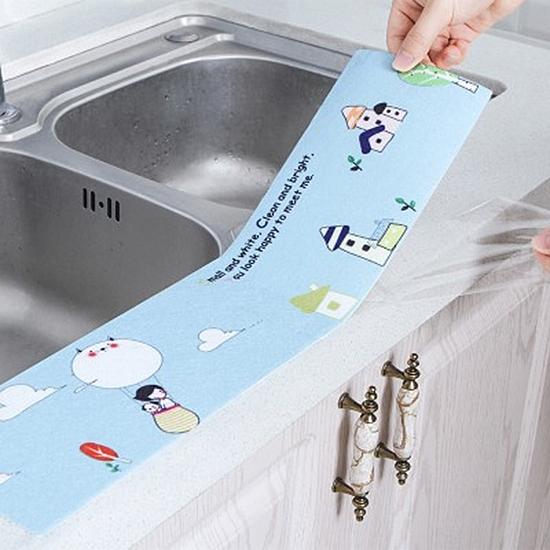 貼紙 靜電貼 吸水貼 防水貼紙 防霉 除濕 洗漱台 廁所 洗手台 印花 水槽 防水貼【J006】生活家精品