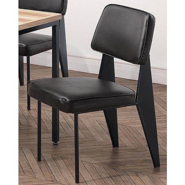 餐椅 TV-421-3 格瑞斯黑皮餐椅【大眾家居舘】