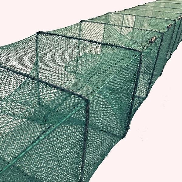 漁網蝦籠捕魚泥鰍黃鱔龍蝦螃蟹籠網可折疊 cf