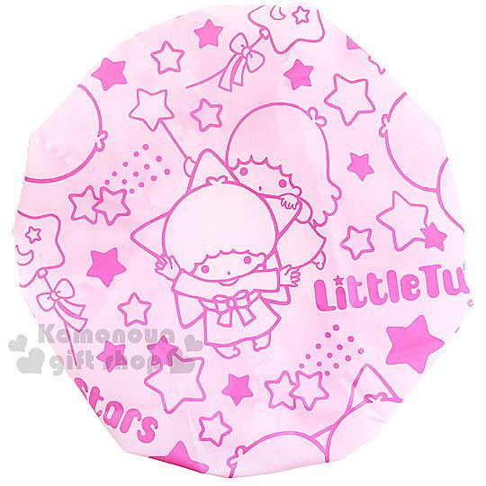 〔小禮堂〕雙子星 浴帽《粉.星星.氣球》 4712977-46213