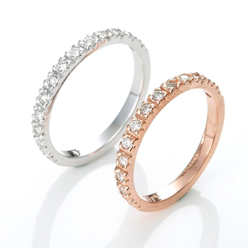 Dolly 求婚戒 0.20克拉 14K鑽石戒指(雙色選一)