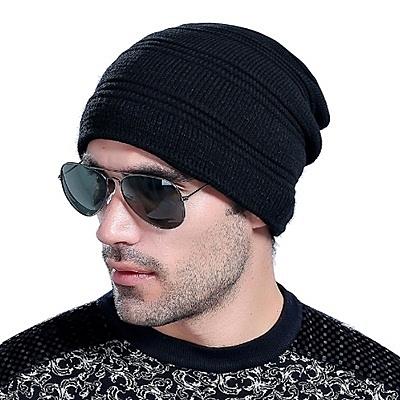 針織毛帽-韓版素色簡約首選男帽子2色73if52【時尚巴黎】