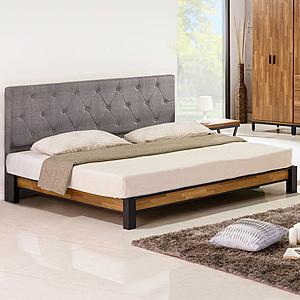 Homelike 凱德工業風床架組(含床頭片)-雙人加大6尺