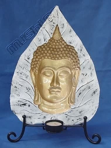 泰式風情 家居飾品 工藝擺件 樹脂 蓮葉佛頭
