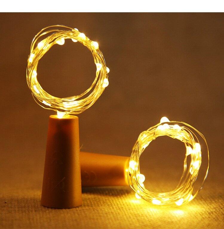 【LED瓶塞燈】 2米20燈 浪漫神器 酒吧節日裝飾彩燈 led瓶塞 浪漫必備 婚禮佈置 情人節