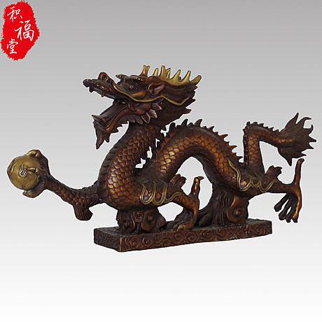 工藝品 開光純銅生肖龍   漢龍小號