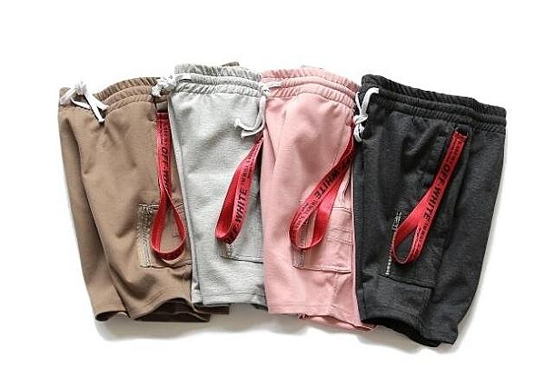 找到自己 MD 日系 潮 男 時尚 休閒 街頭 工裝 系帶 織帶裝飾 休閒短褲 工裝短褲 運動短褲