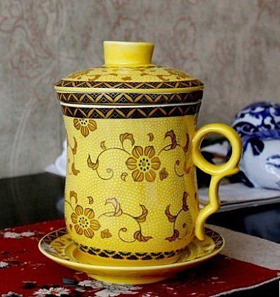 隨手杯陶瓷景德鎮陶瓷帶蓋