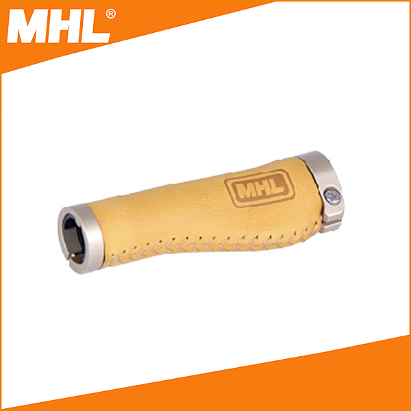 MHL 真皮自行車握把 (荔枝紋-桔色) NS-600