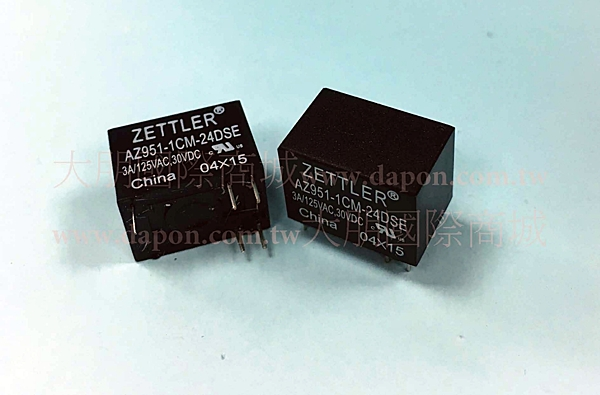 *大朋電子商城*AMERICAN ZETTLER AZ951-1CM-24DSE 繼電器Relay(5入)