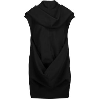 《セール開催中》RICK OWENS レディース ミニワンピース&ドレス ブラック 40 バージンウール 80% / ナイロン 20%