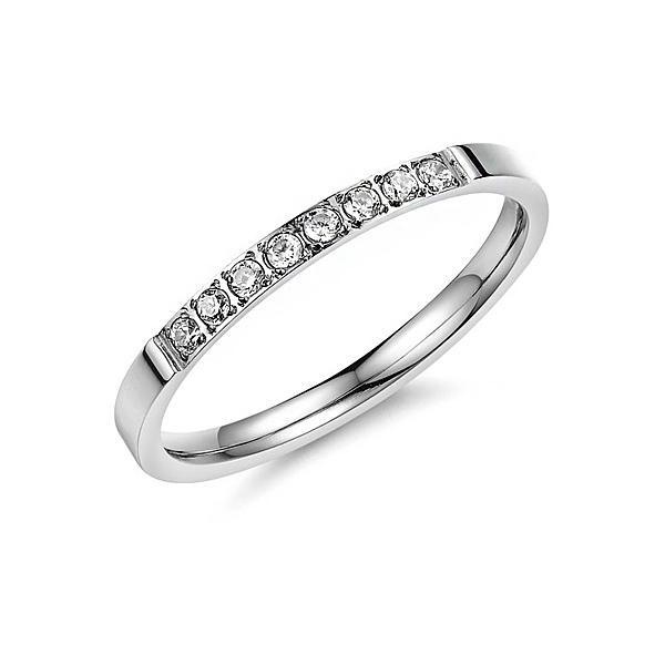 【5折超值價】最新款經典時尚精美鑲鑽女款鈦鋼戒指